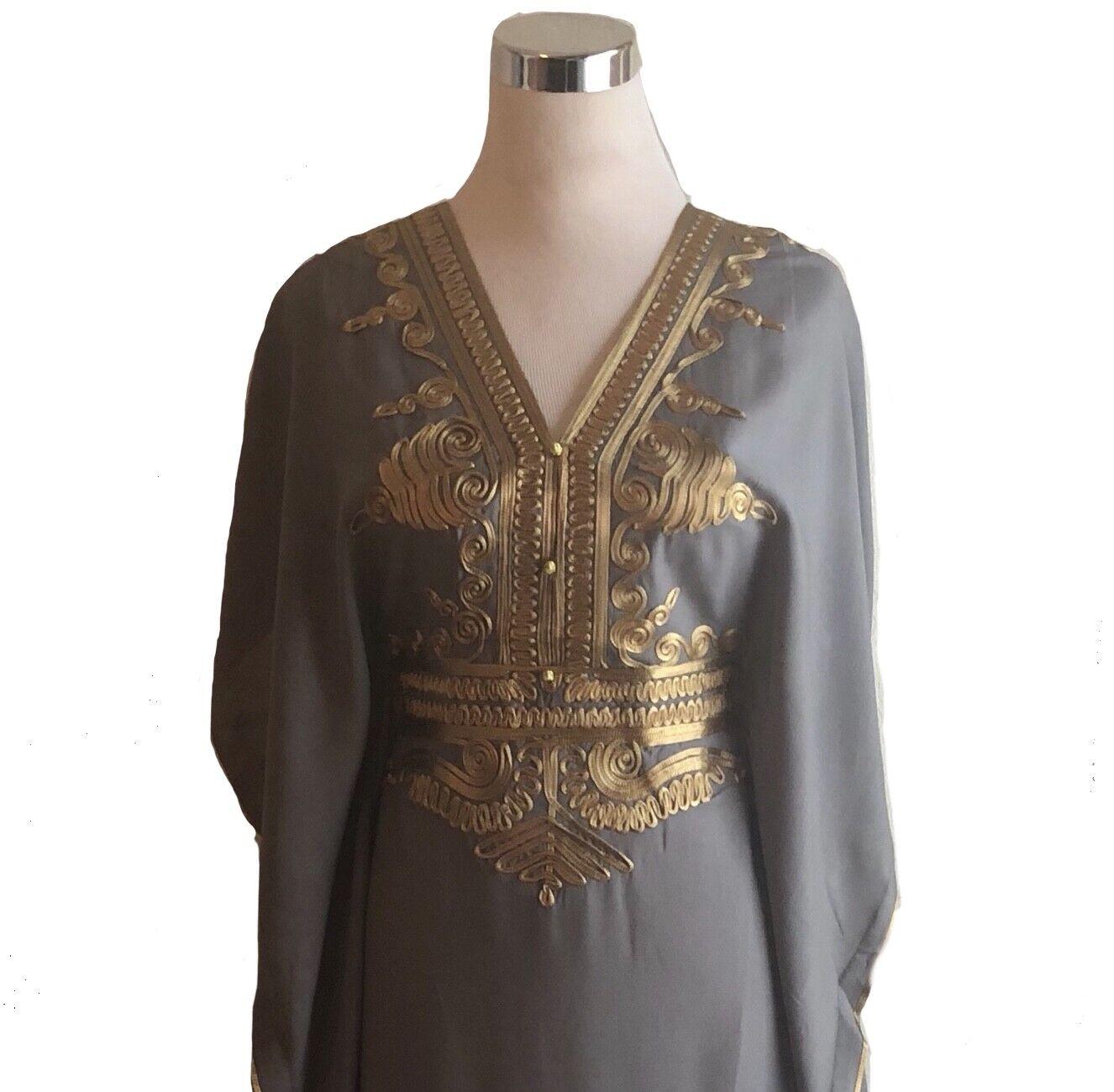 SALE !!! Moroccan kaftan Embroidery Batwing Maxi Dress Dubai Sexy Abaya one  size dcc1ea54434