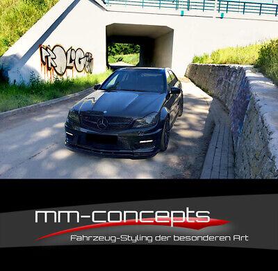 Cup Spoilerlippe CARBON für Mercedes C-Klasse W204 AMG C63 Frontspoiler Schwert