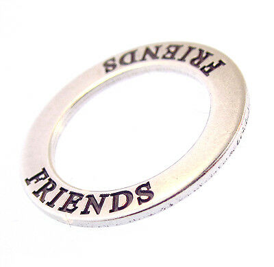Friends Affirmation Circle Pendant New Sterling Sunwest Silver The Charm Co 925