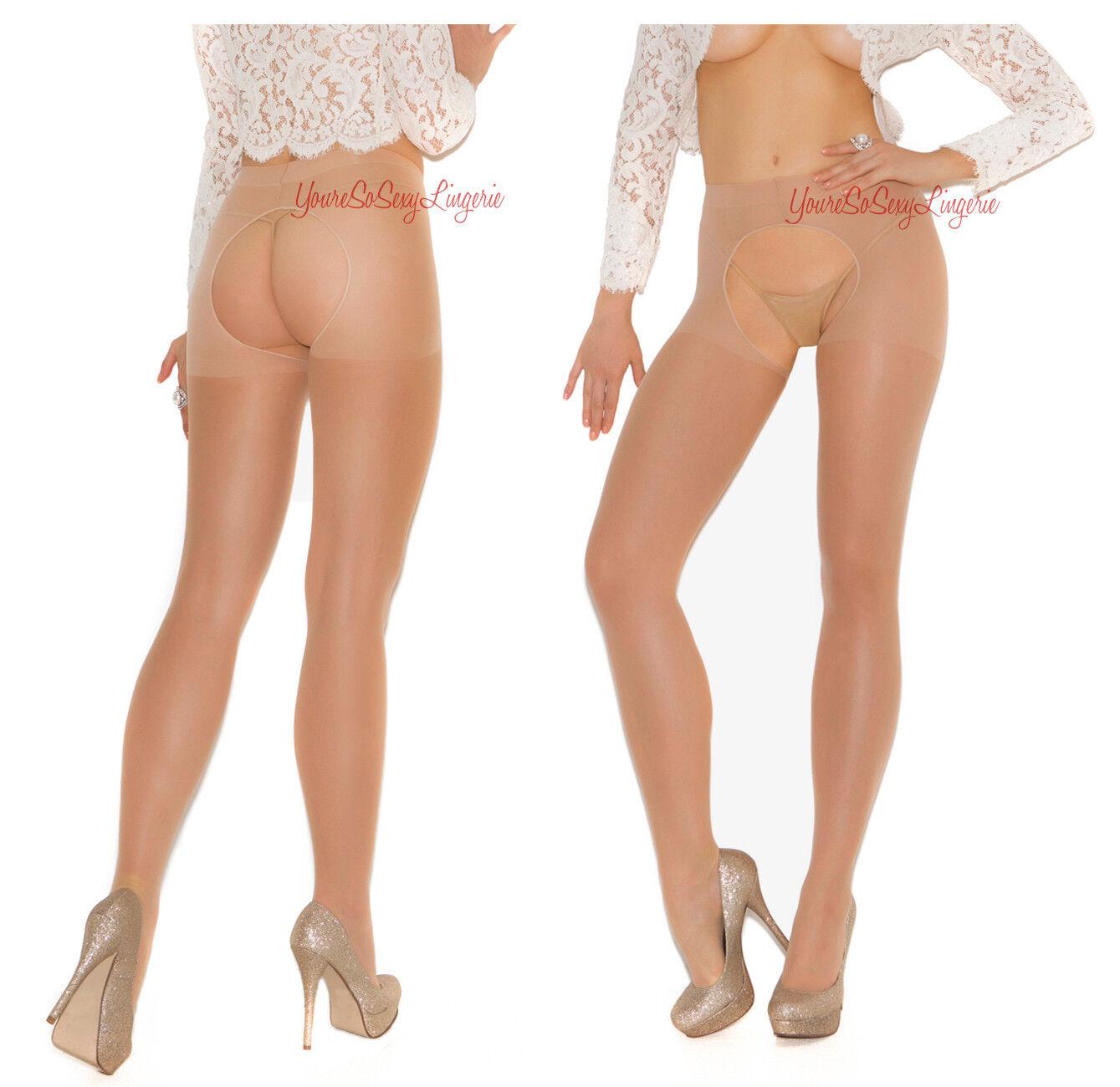 Sexy split crotch pantyhose man mature lesbian