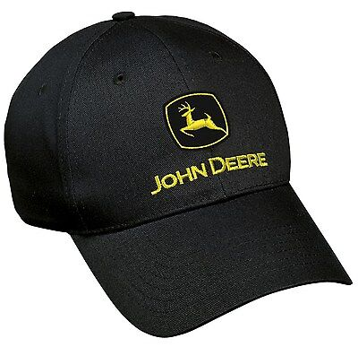 Neu John Deere Schwarz Twill Kappe Gelb Logo LP17593 Twill-kappe