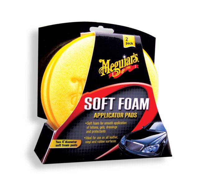 Meguiars Soft Foam  Applicator Pad (2 pack) free UK P&P Ultimate Stockist