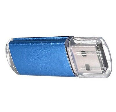 - 64 GB USB 2.0 Flash Memory Stick Drive Storage Thumb Drive Pen U Disk BLUE