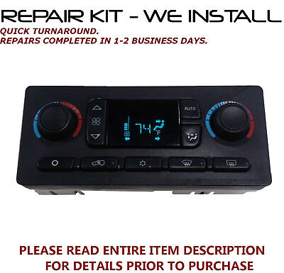 Repair Kit Fits 2003 2007 Hummer H2 A C Heater Climate Control  We Install