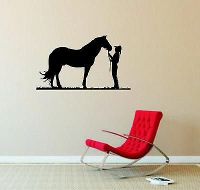 Wandtattoo - Cowboy, Pferd, Tiermotiv, Wilder Westen // Farb- und Größenwahl