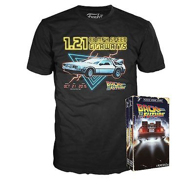 Funko Back to the Future T-Shirt in Retro 80's Look VHS Box Tee Pick Size M L XL (The 80's Look)