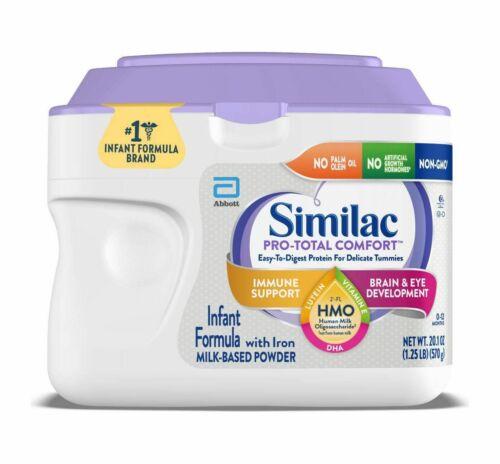 4 Similac Pro-Total Comfort Non-GMO Infant Formula with Iron Powder - 20.1oz