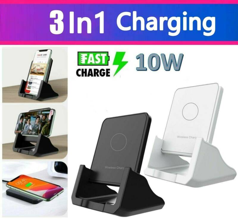 Qi Wireless Fast Charger Charging Stand Pad Dock for Samsung