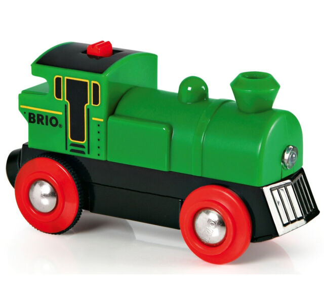 Brio BATTERY POWERED ENGINE Child Nursery Toy Wooden Track Train Gift - BN