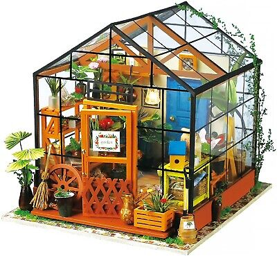 DIY Miniatur Haus, Miniatur Bausatz, Gewächshaus