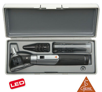 Otoscope Set Heine Mini 3000 Led F.o. With Battery Handle In Hard Case