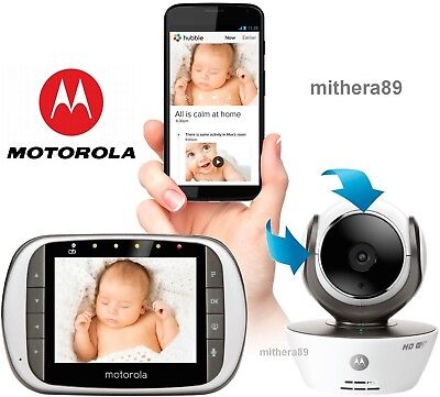 Motorola MBP853 CONNECT Digital COLOUR Zoom Video BABY MONITOR WiFi iOS Android
