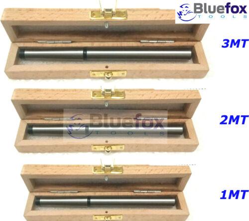 Lathe Alignment Test Bar Shank Size 1MT, 2MT, 3MT Wooden Box Bluefox