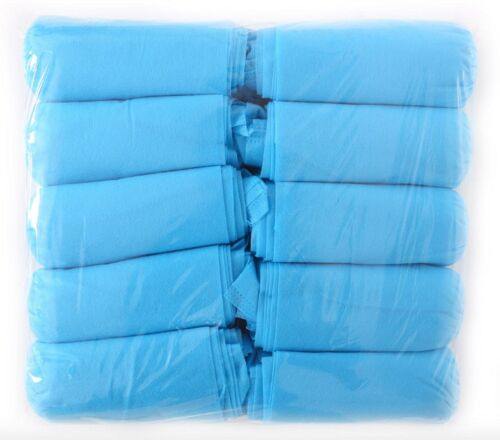 Shoe Covers Regular Package of 50 Pair - 100 Covers - Blue