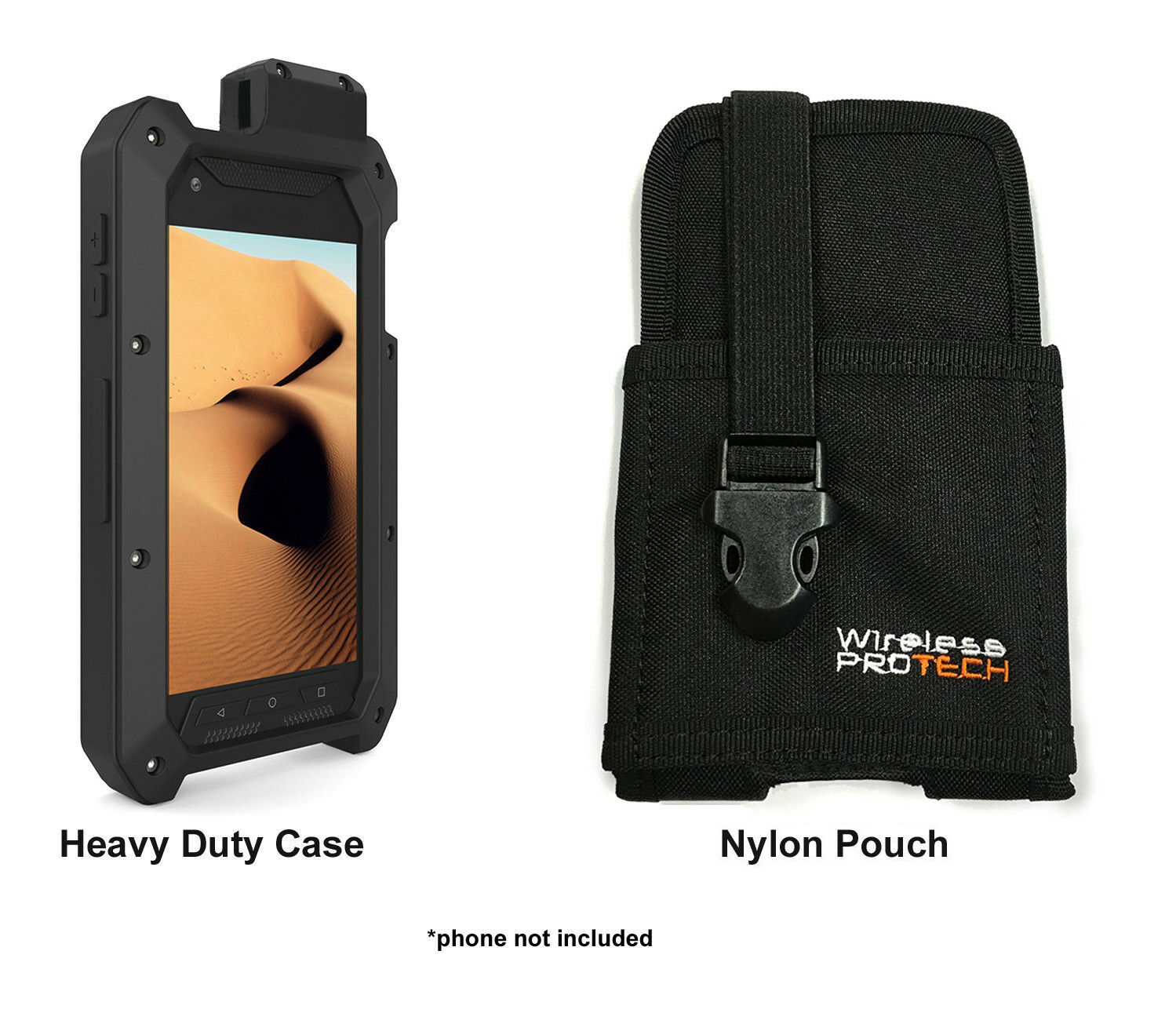 Kyocera DuraForce Pro Heavy Duty Case / Rugged Nylon Pouch b