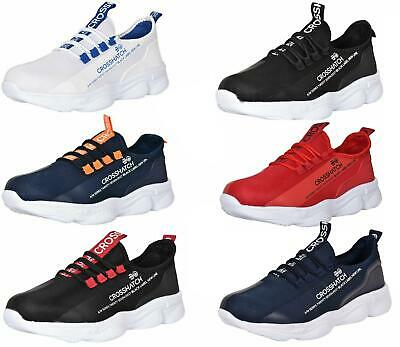 Crosshatch Mens Lace up Trainers Flat Lightweight Sneaker Running Shoes UK 7-12
