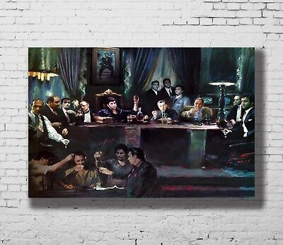 P-10 Art Al Pacino Scarface Classic Movie Vintage LW-Canvas Poster - 21 24x36in