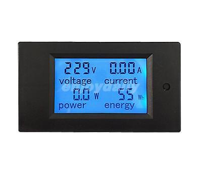 Ac260v20a 100a Generator Home Electricity Digital Meter Volt Amp Power Watt Hour