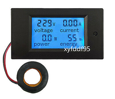 Ac 100a Power Meters Monitor Volt Amp Kwh Watt Digital Combo Meter Ac110v 230v