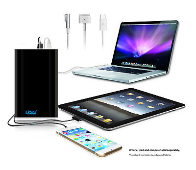Lizone 60kmAh External Battery Power Bank Portable Charger Apple Macbook Pro Air