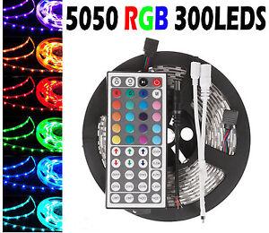5m 10m 15m 20m smd 5050 rgb led strip light 44key ir remote controler kit ip65 ebay. Black Bedroom Furniture Sets. Home Design Ideas