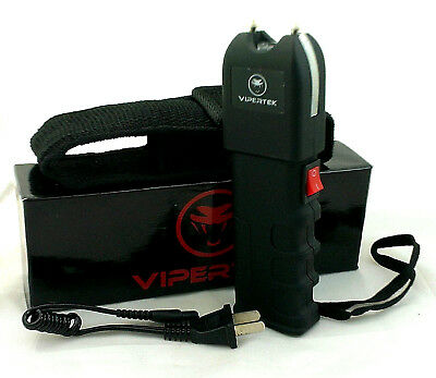 VIPERTEK VTS-989 Stun Gun Rechargeable Self Defense Heavy Duty