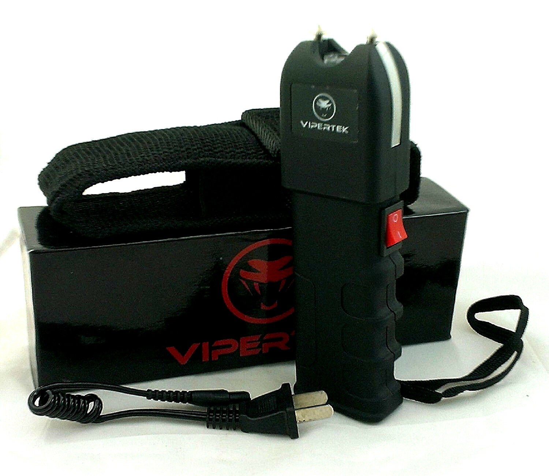VIPERTEK VTS-989 Stun Gun Rechargeable Self Defense Heavy Duty