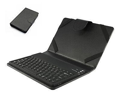 Universal Tasche Case mit Bluetooth Tastatur für 7 - 8 Zoll Tablet PC | Schwarz