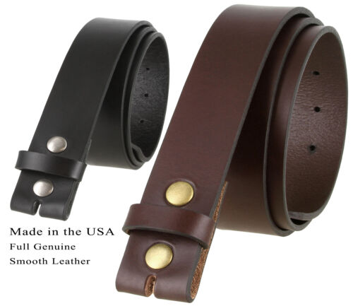 Bs1050 One Piece Casual Jean Leather Belt Strap, Made In The Usa, Black, Brown