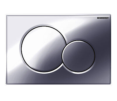 Geberit 115.770.21.5 Sigma01 Toilet Dual Flush Plate Chrome For UP320 Cisterns