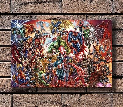 Marvel And DC Characters Superheroes Hot Comic Print 24x36 in Silk Poster KX722 - Superhero Poster