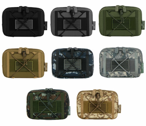 Compatible Tactical Multi-Purpose EDC Utility Waist Belt MOLLE Pouch Bag FLAG