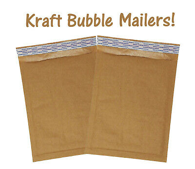 6x10 Brown Kraft Bubble Mailers Recyclable Padded Shipping Mailing Envelopes