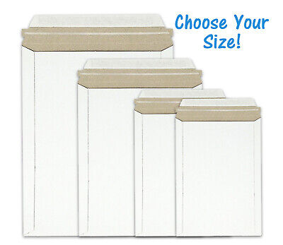 Premium White Rigid Stay Flat Photo Mailers Self Seal Stayflats Envelopes Multi