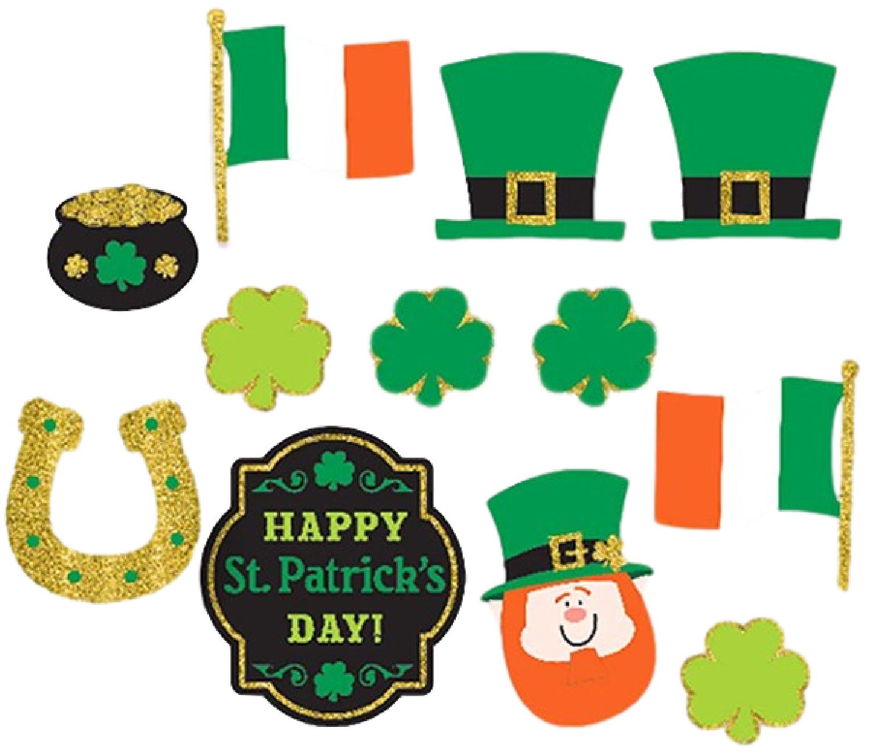 St Patricks Day Irish Ireland Shamrock Paddy Photo Booth Selfie Fun Party Props