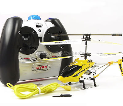 Cheerwing RC Helicopter S107G 3.5CH Alloy Remote Control Gyro Kids Gift Yellow