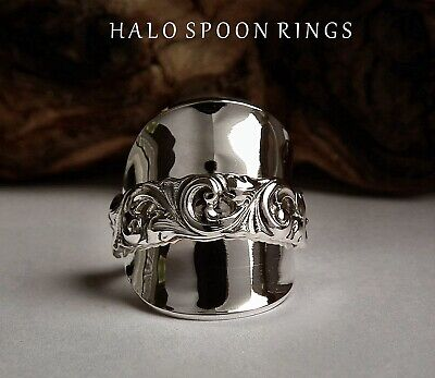 CHUNKY NORWEGIAN SILVER  SPOON RING BY THORVALD MARTHINSEN THE PERFECT GIFT IDEA
