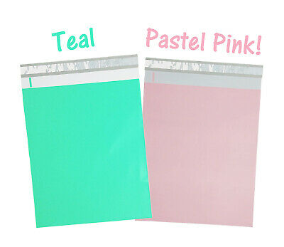 12x15 Pastel Pink Teal Poly Mailers Hot New Designer Shipping Mailing Bags
