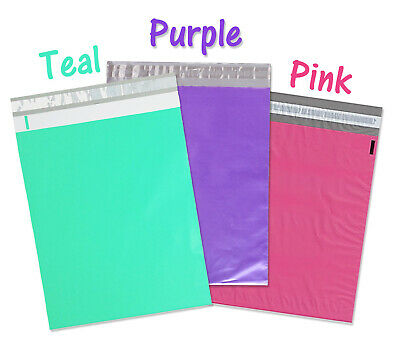 12x15.5 Poly Mailers Pink Purple Teal 12x15 Envelopes Plastic Shipping Bags