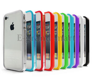 10 x Silicone TPU Bumper Frame Case Skin for iPhone 4 4S 4GS W/Side Button
