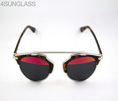 f5f84ce466e ... AOOTT Silver and Havana 48mm UPC 827886531615 product image for  Christian Dior So Real Sunglasses Pallad Havanna Red Case And Cloth ...