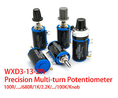 Wxd3-13-2w Precision Multi-turn Potentiometer 1k 2.2k3.3k 4.7k 10k22k 47k 100k