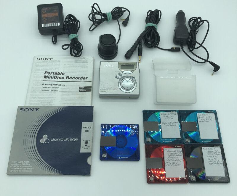 Vintage Sony MZ-N510 Net MD Walkman Type-S Portable Minidisc Recorder Silver