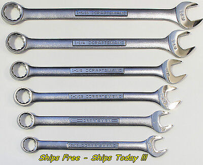 Craftsman 6 PC SAE 12 PT Jumbo Huge Large Big Combo Wrench S