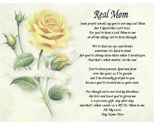Real Mom Personalized Art Poem Memory Birthday Mother S