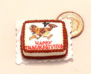 Oblong-Thanksgiving-Cake-Doll-Miniature-House-Food-SC11