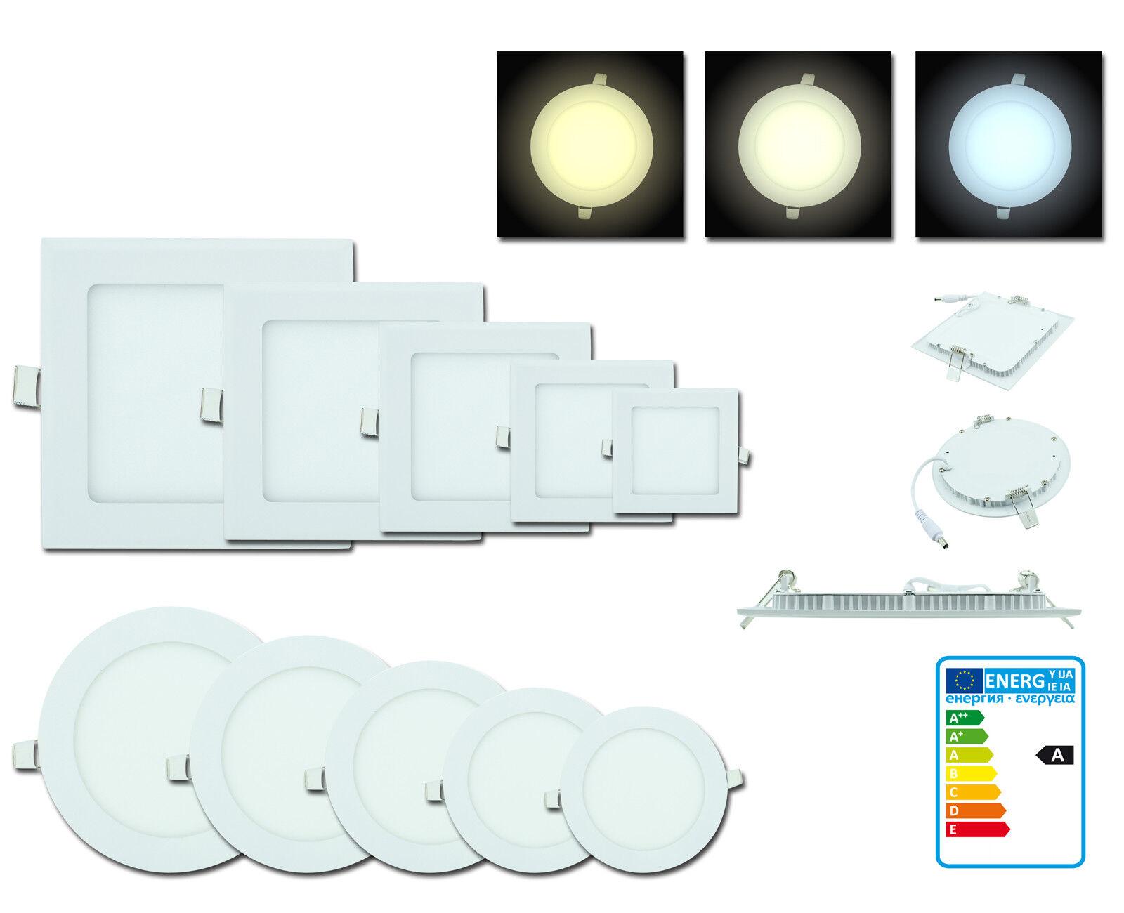 Einbaustrahler LED Spot Strahler Panel Flach Einbau Deckenleuchte Lampe Decken