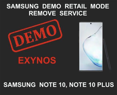 Samsung Demo Mode Unlock, Remove Service, Samsung Note 10, Note 10 Plus Exynos