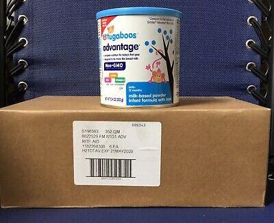 Case of 6 Tugaboos Advantage Infant Formula Milk Based Powder w/Iron 12.4 oz (Milk 6 Ounce Case)
