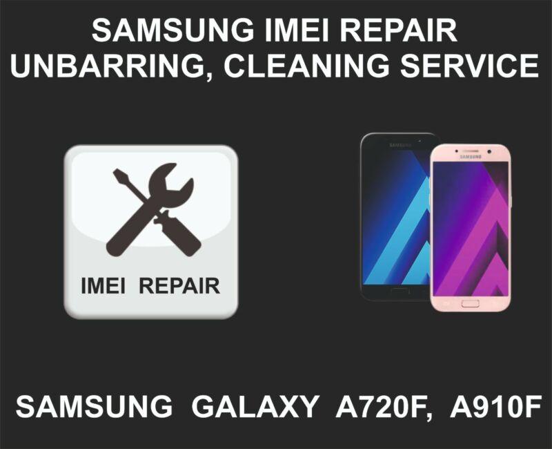 Samsung IMEI Repair, Unbarring, Cleaning, Samsung Galaxy A7, A9, A720F, A910F